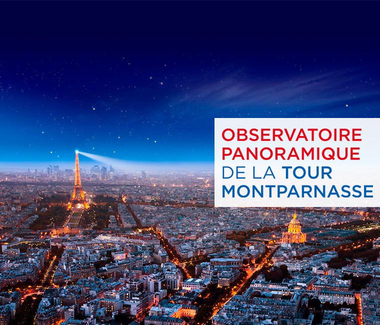 12€ au lieu de 18€ l'entrée à la Tour Montparnasse