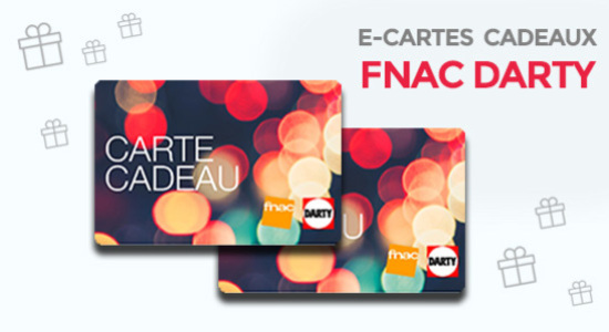 5% de réduction sur la carte cadeaux Fnac-Darty de 50€