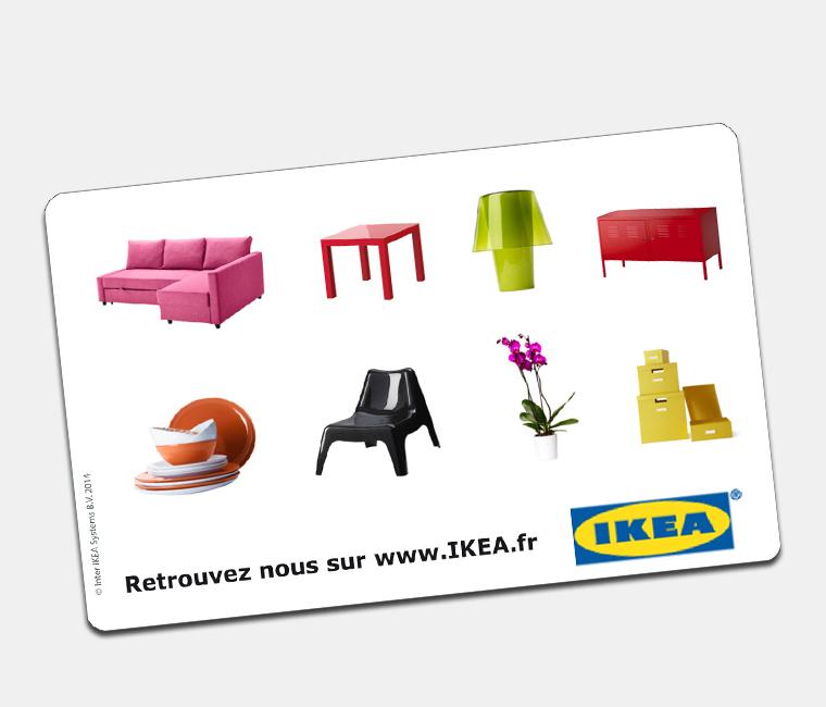 4% de réduction sur les e-cartes cadeaux IKEA de 50€