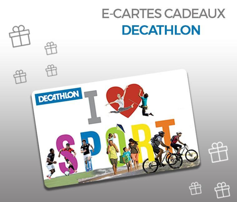 5% de réduction sur la e-carte cadeau Decathlon de 50€ (valable en ligne et en magasin)
