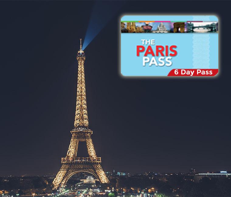 41€ de réduction sur votre Paris Pass de 6 jours