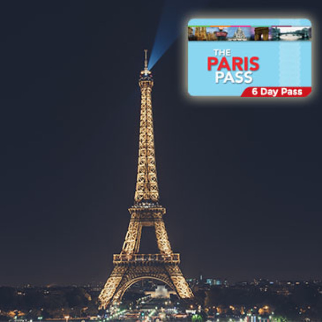 PARIS PASS 2,4 or 6 DAYS