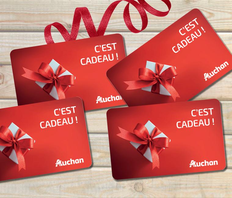 5% de réduction sur l'achat des cartes cadeaux Auchan de 50€