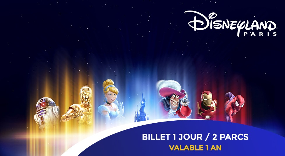86€ au lieu de 109€ le billet Super Magic 1 jour /  2 parcs