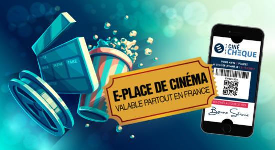 6,50€ la e-place de cinéma valable partout en France