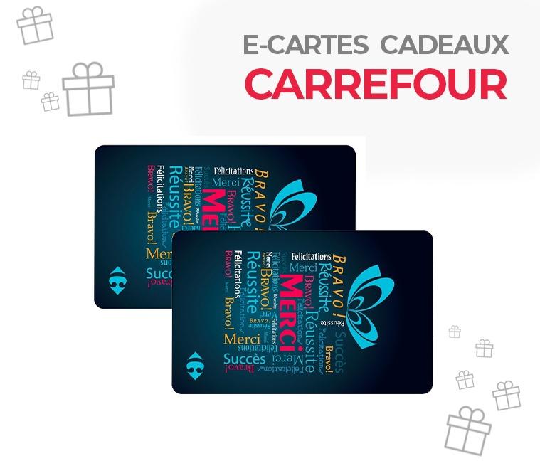 5% de réduction sur les e-cartes cadeaux Carrefour de 50€