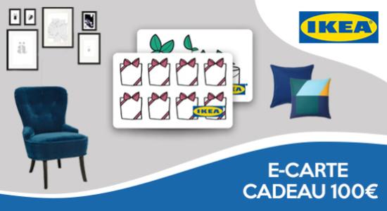 4% de réduction sur les e-cartes cadeaux IKEA de 100€