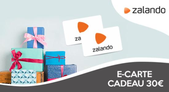 10% de réduction sur les e-cartes cadeaux ZALANDO de 30€