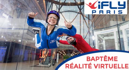 10€ de réduction sur le baptême chute simple + réalité virtuelle