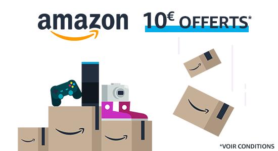 10€ de réduction dès 50€ d'achat sur Amazon
