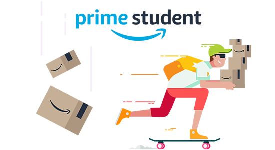 -50% sur l'abonnement Amazon Prime avec Prime Student