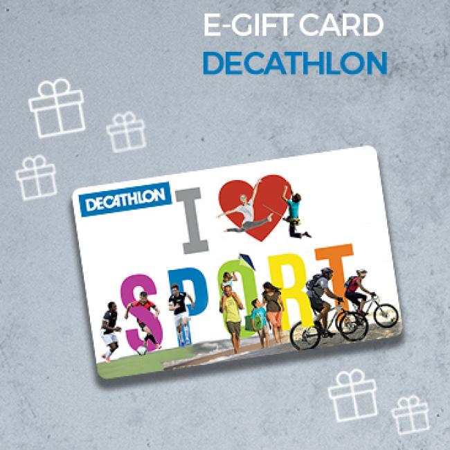 Decathlon 5 De Reduction Sur La E Carte Cadeau Decathlon De 30 Valable En Ligne Et En Magasin Isic Fr La Carte D Etudiant Internationale