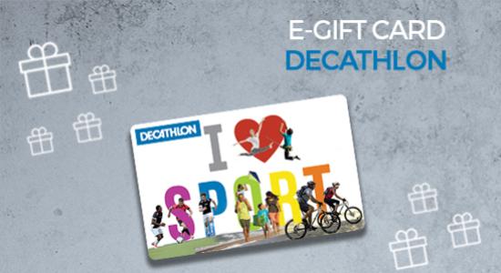 5% de réduction sur la e-carte cadeau Decathlon de 30€ (valable en ligne et en magasin)
