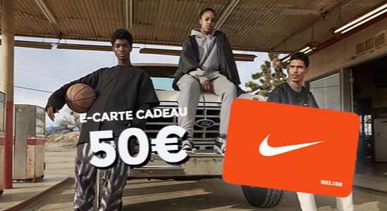 5% de réduction sur la e-carte cadeau Nike de 50€