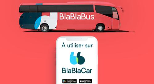5 € offerts sur un trajet en bus réservé sur BlaBlaCar