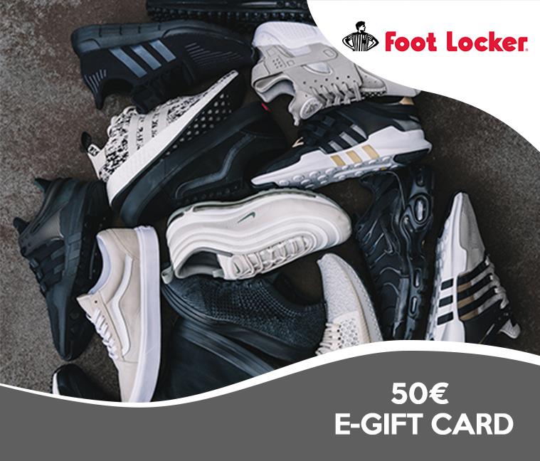 10% de réduction sur les e-cartes cadeaux Foot Locker