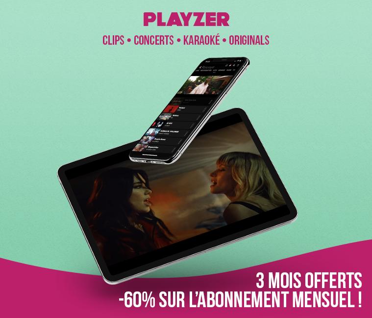 3 mois offerts + 60% de réduction sur l'abonnement mensuel Playzer
